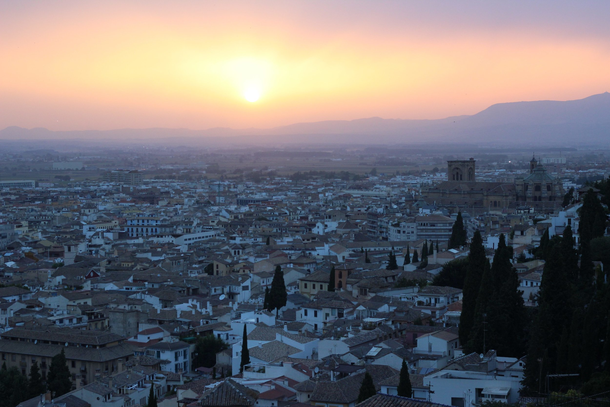 The stunning view of Granada from the Auditorio Manuel de Falla, where  Jali  was premiered.
