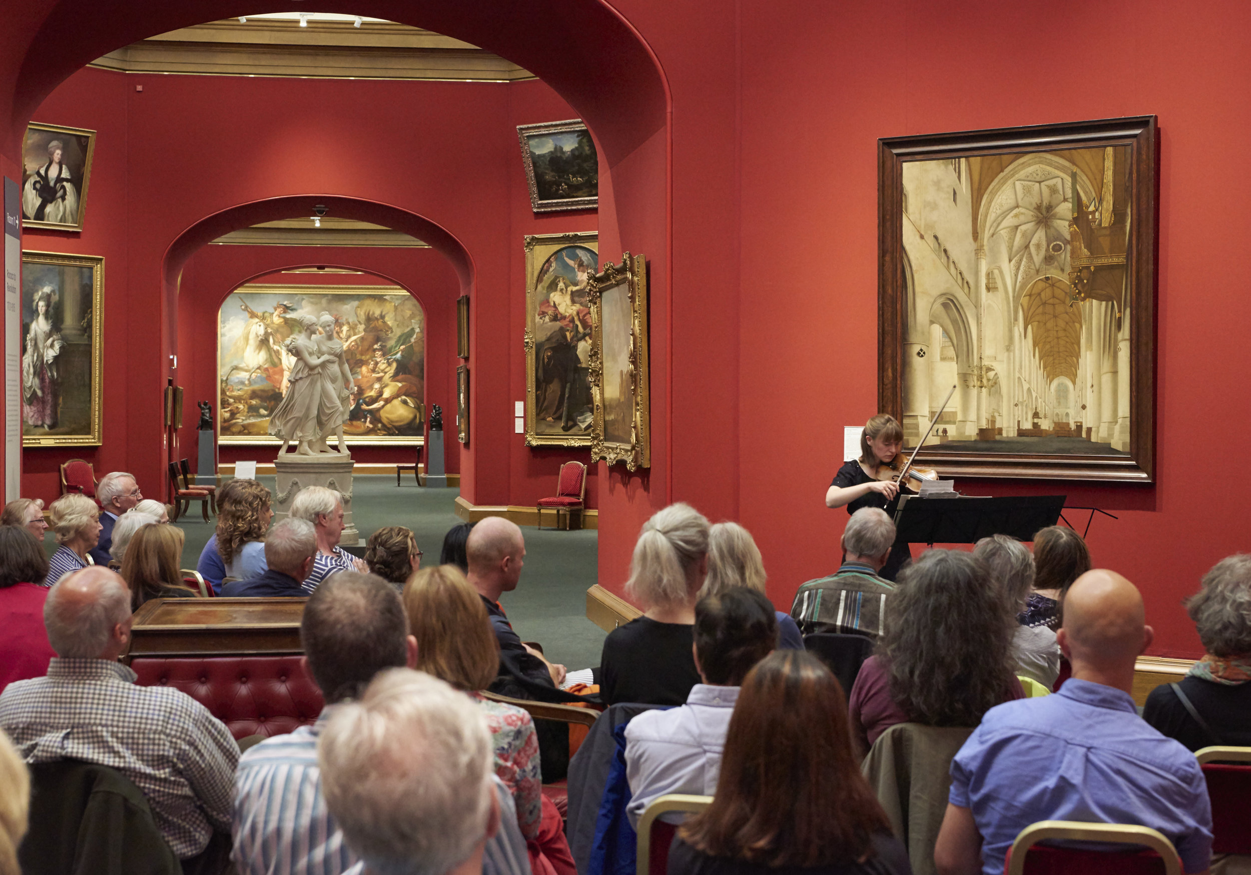 Fenella Humphreys performs  White Space  in the National Galleries of Scotland, Edinburgh
