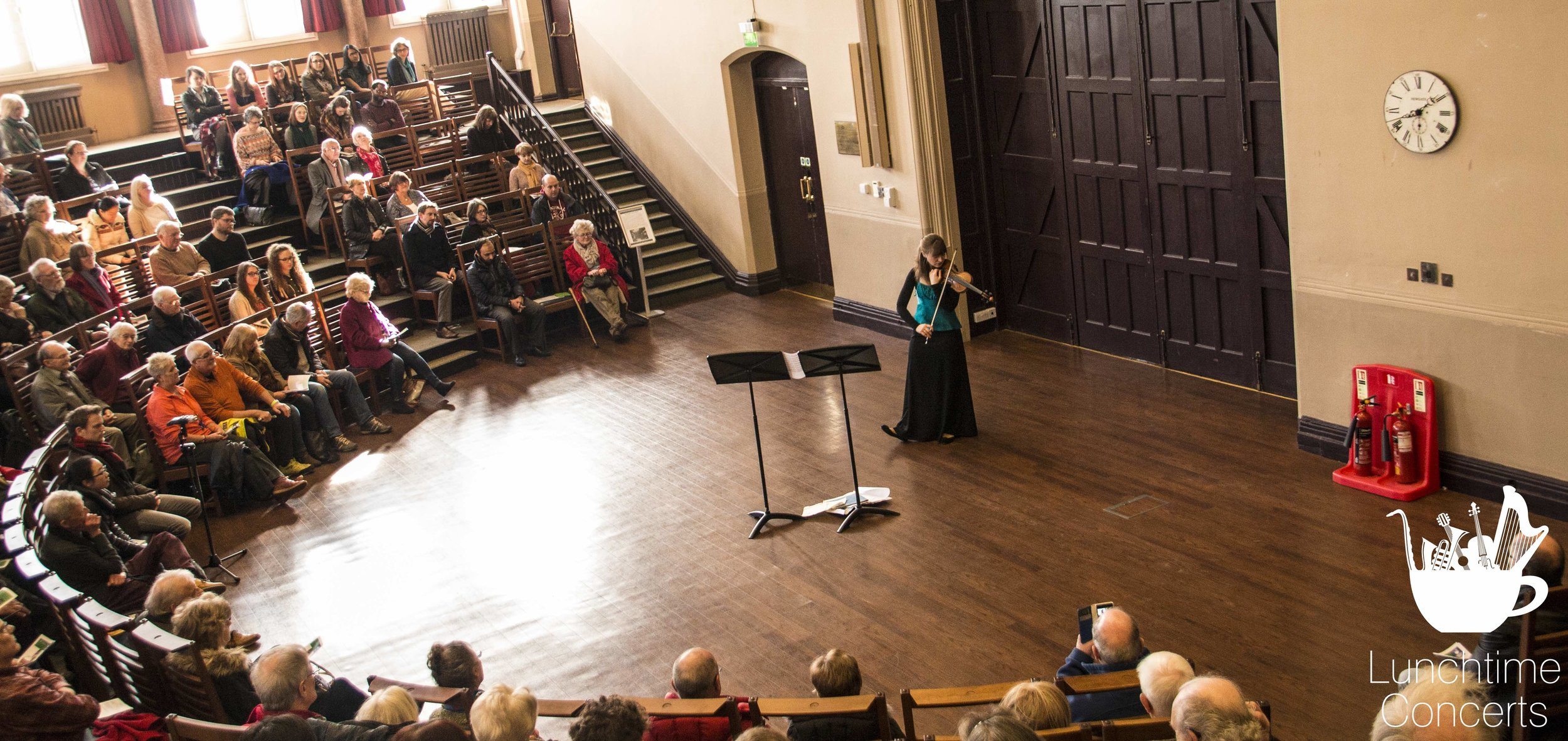 Fenella Humphreys performs in the Leggate Theatre at the University of Liverpool