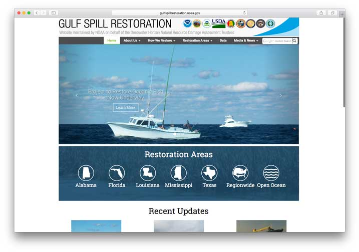 Gulf Spill Restoration, NOAA Damage Assessment, Remediation & Restoration Program