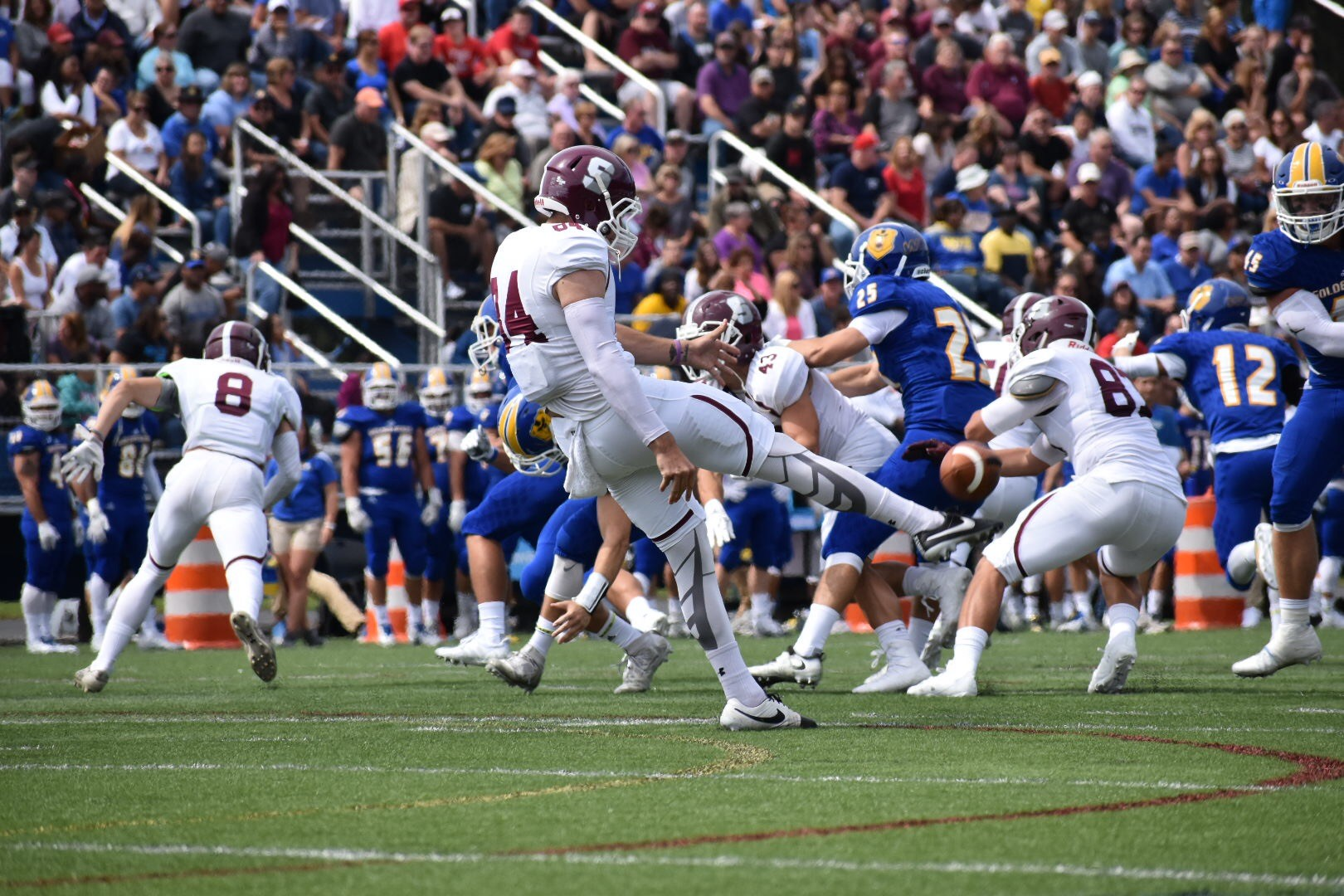 Whit DeVaux, Hartford CT/Springfield MA Area  Whit was a four year starter for Springfield College where he was also a DIII All American Track Athlete. Whit is currently pursuing NFL Free Agency as a Punter.