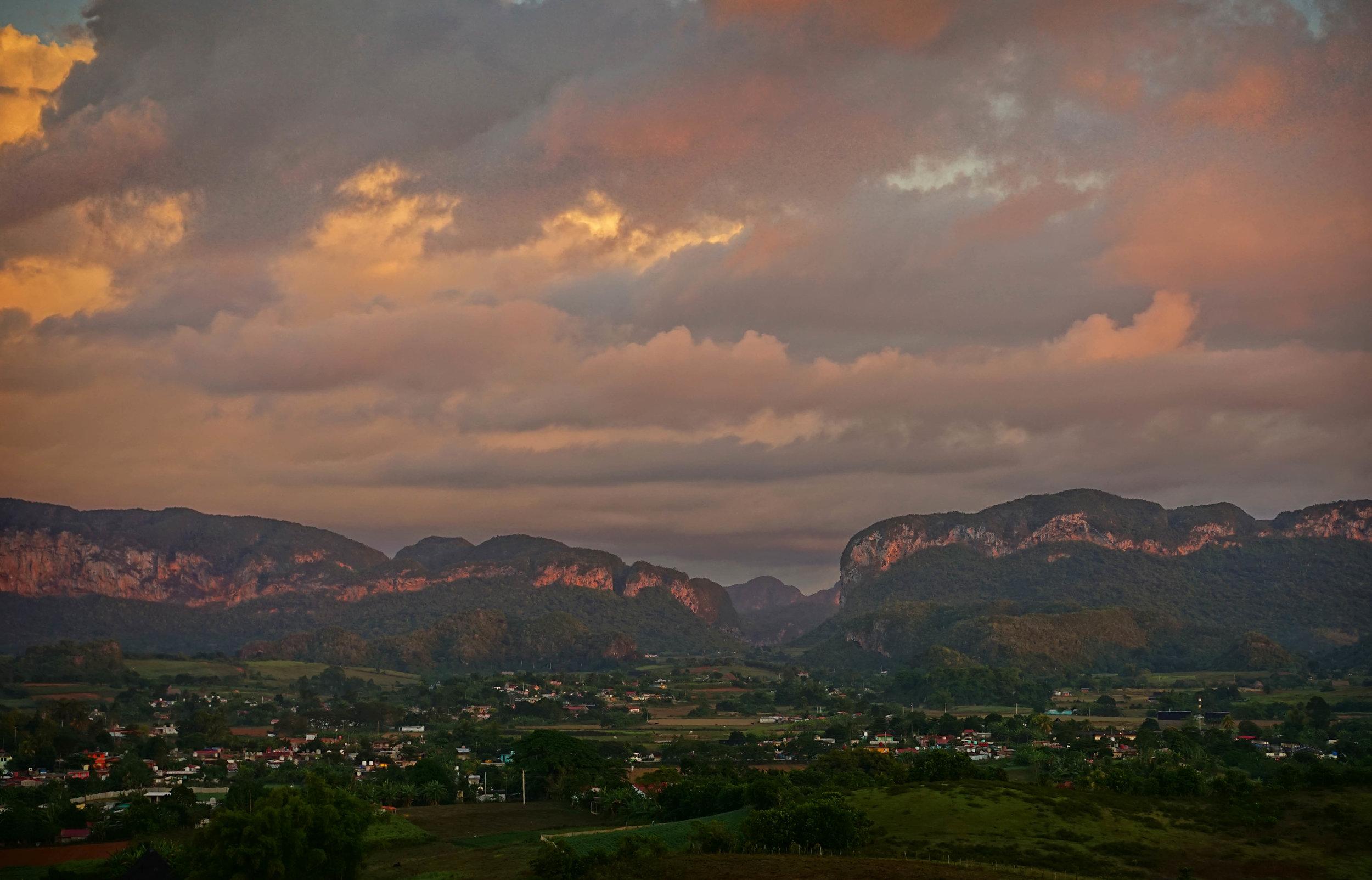 sunrise over Viñales