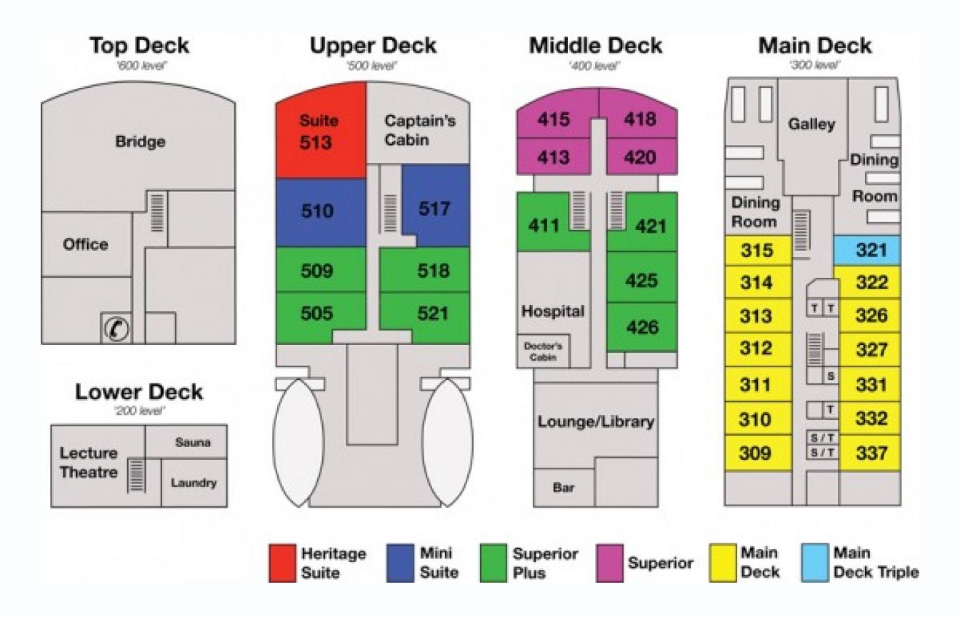 Spirit of Enderby deck plan