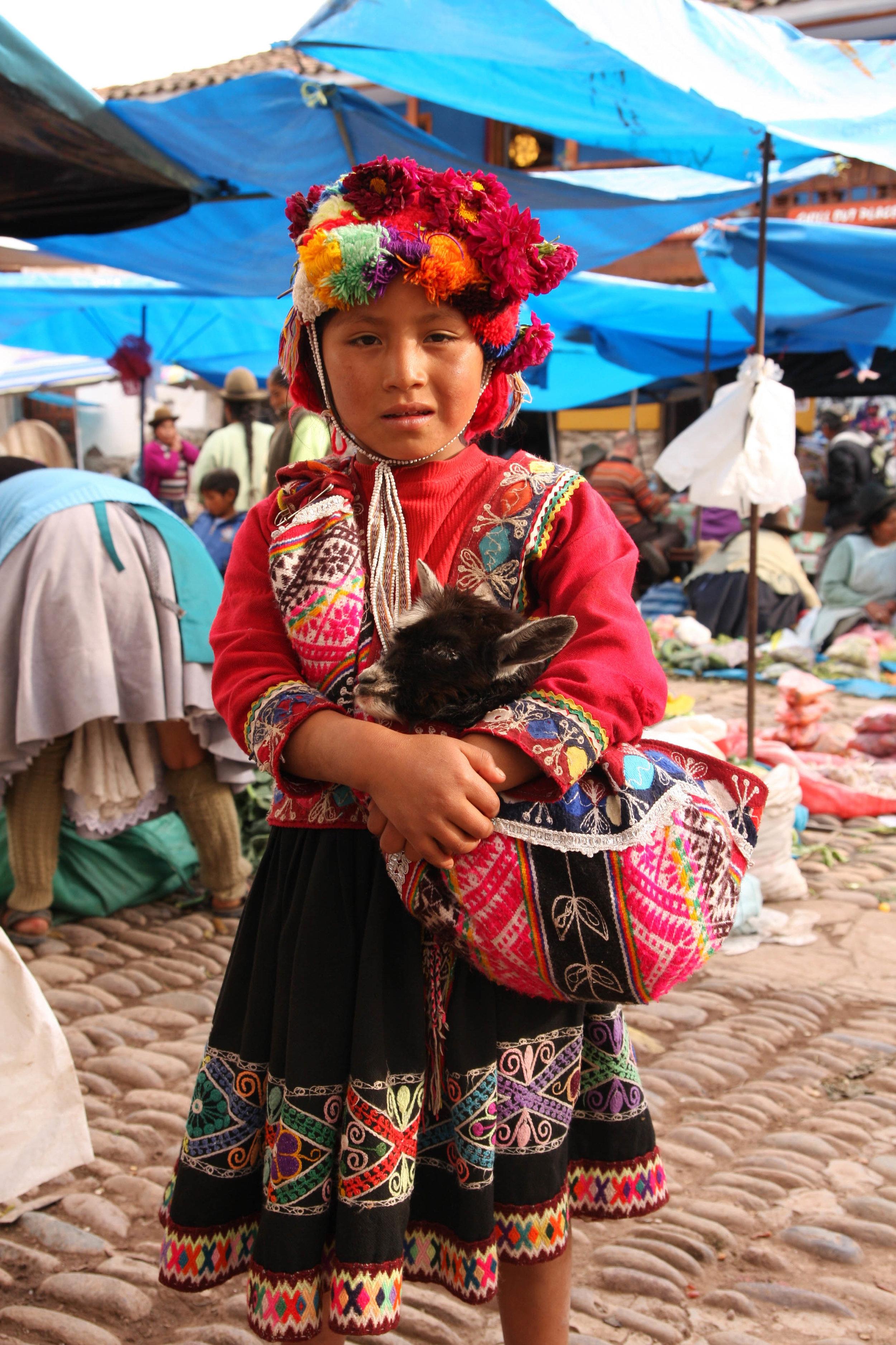 in the Pisac market