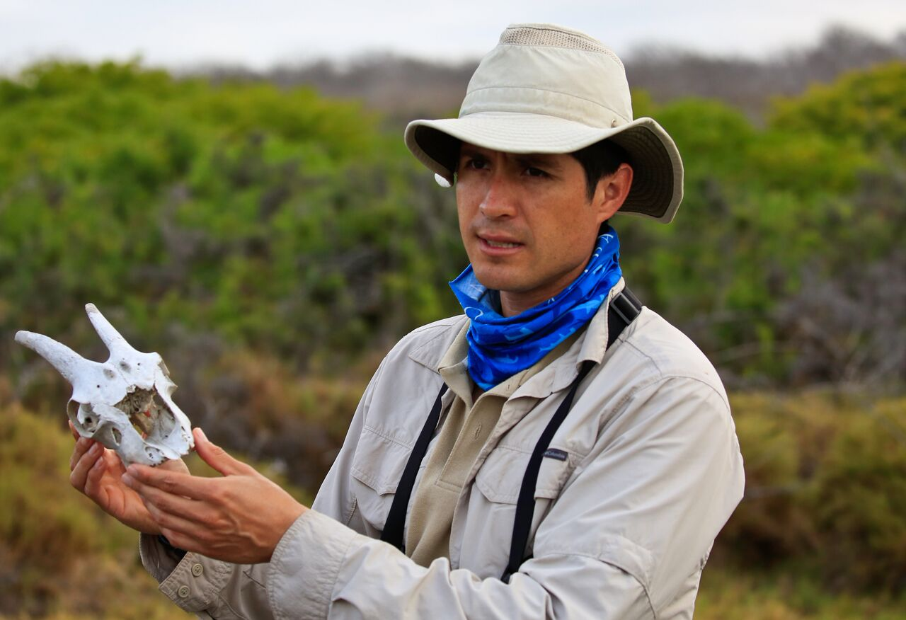 Joed discussing invasive species