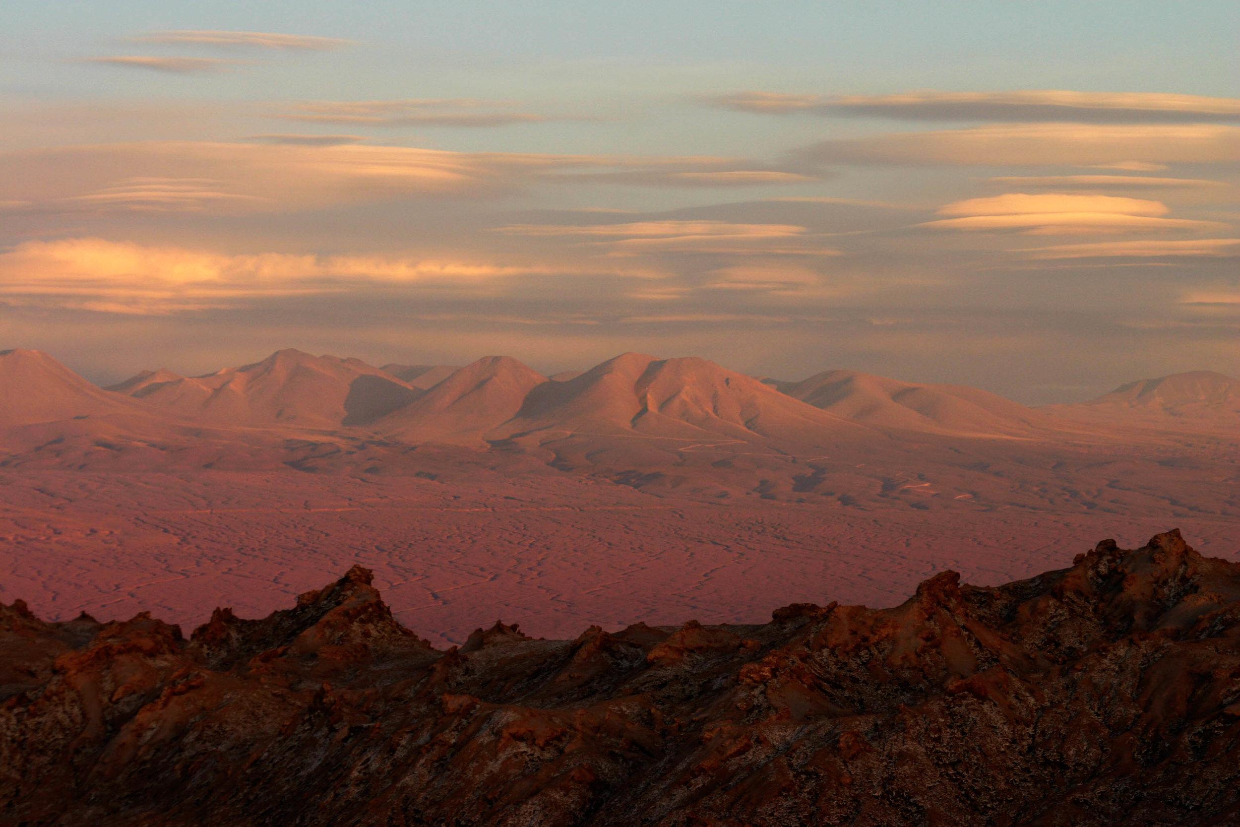 Sunset in Atacama