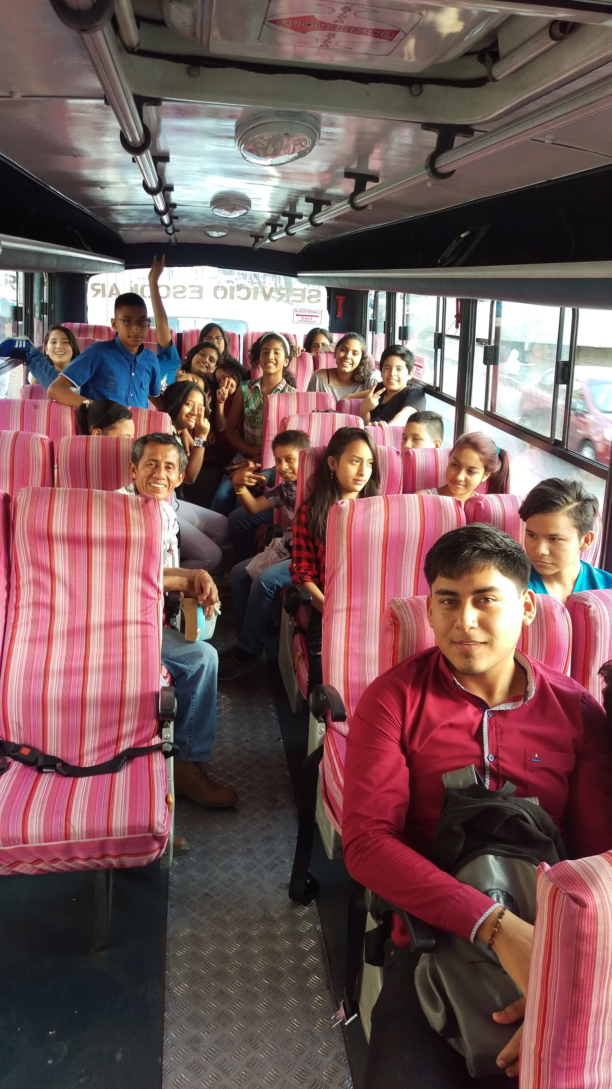 The youth group on their way to the conference.