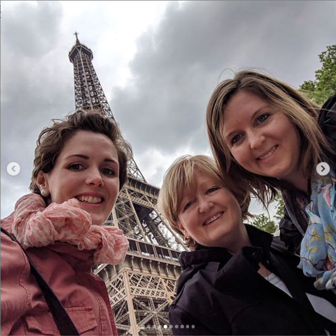 Meredith escaped to Paris to see her family