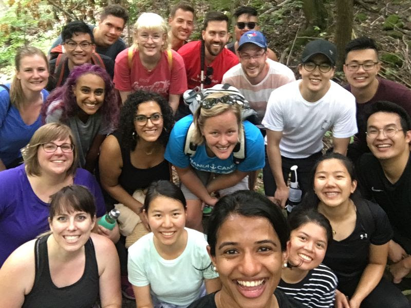 A highlight from August was attending our intern orientation. This fall we sent out a team of 3 interns to North Africa, and 3 interns to East Asia. Here are a group of us (along with other new staff and interns) doing a hike during a break one afternoon.