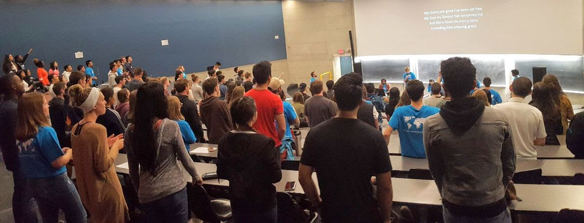 120 first year students interested in joining Power To Change at the University of Waterloo.