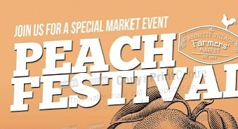 Join us tomorrow for our PEACH FEST. Tons of peaches, peach-themed products and activities, live music, yummy food and drinks, a drum circle for the kids and all your usual favourites. 🥁 . . . . #peachfest #annettevillage #farmersmarket #peaches #specialevent #416 #toronto #market #artisan #avfm2019