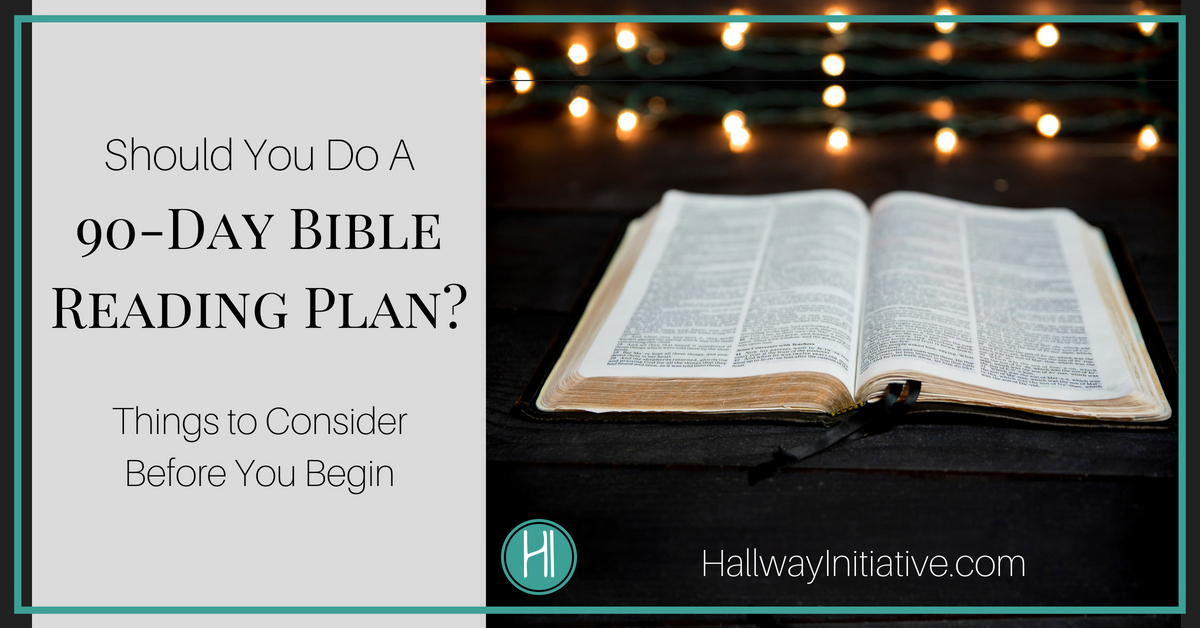 90-day Bible reading plan