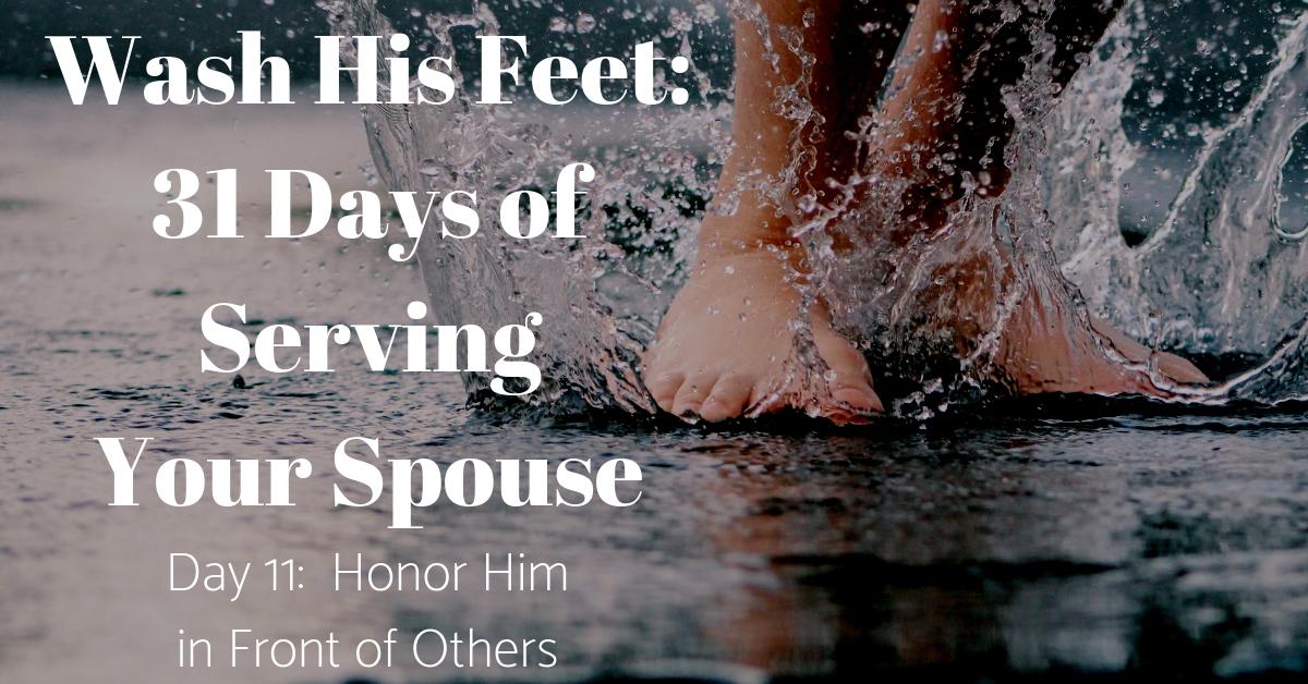 Wash His Feet Day 11