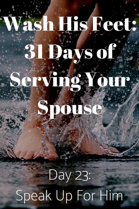 Wash His Feet Day 23