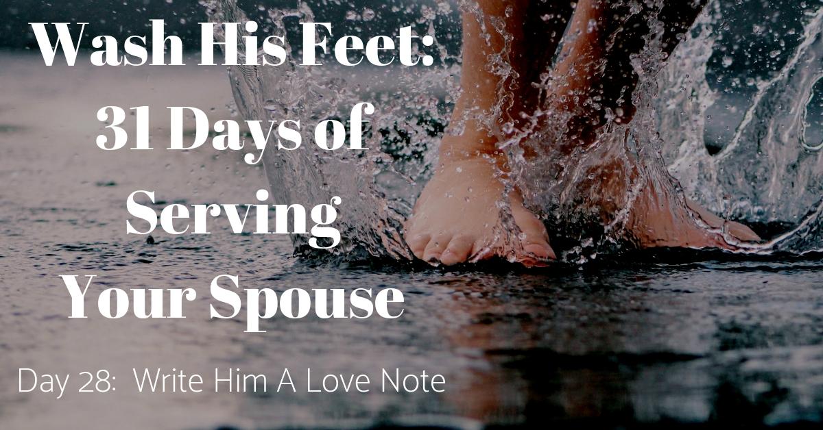 Wash His Feet Day 28