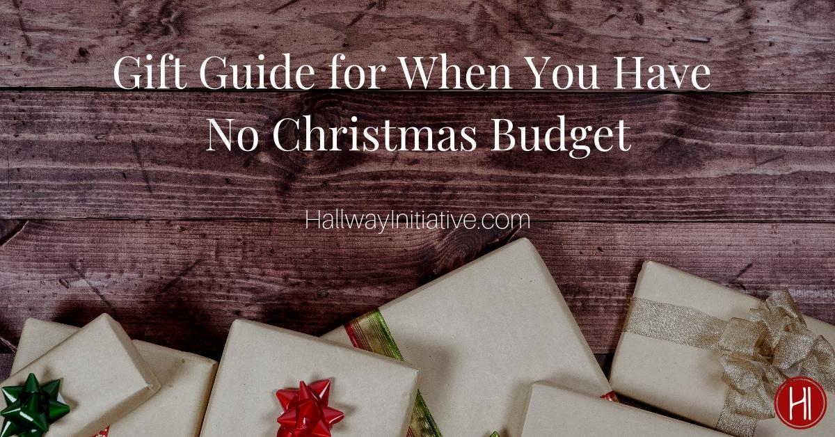 Christmas Gift Guide No Budget