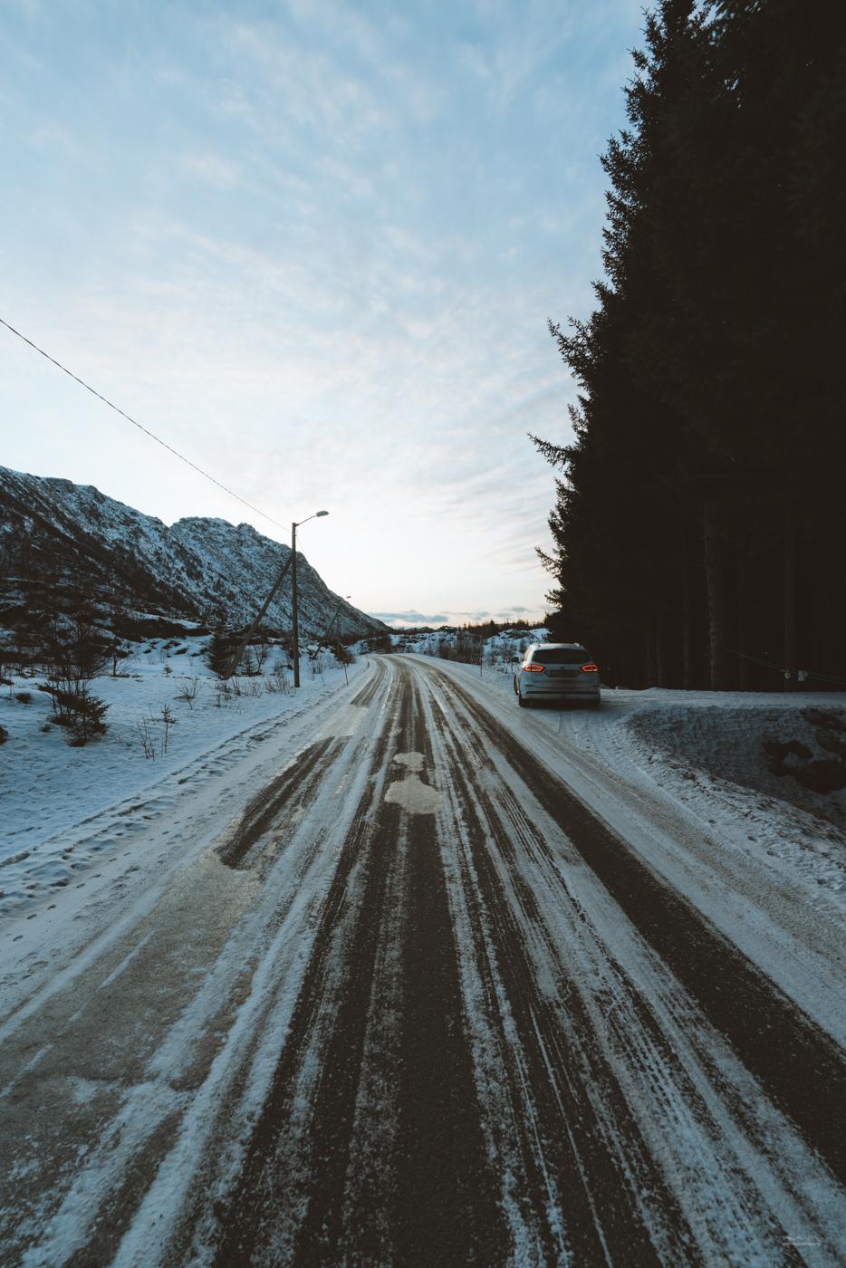 Driving through Lofoten