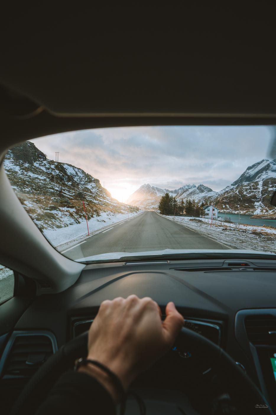 Driving in Lofoten