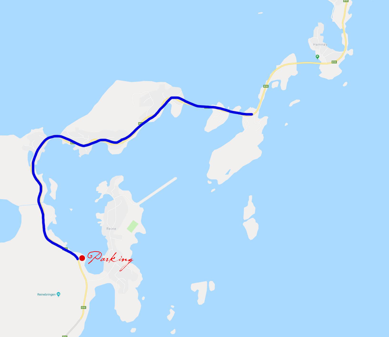 A great walk through the old villages of Hamnøy, Reine and Sakrisøy