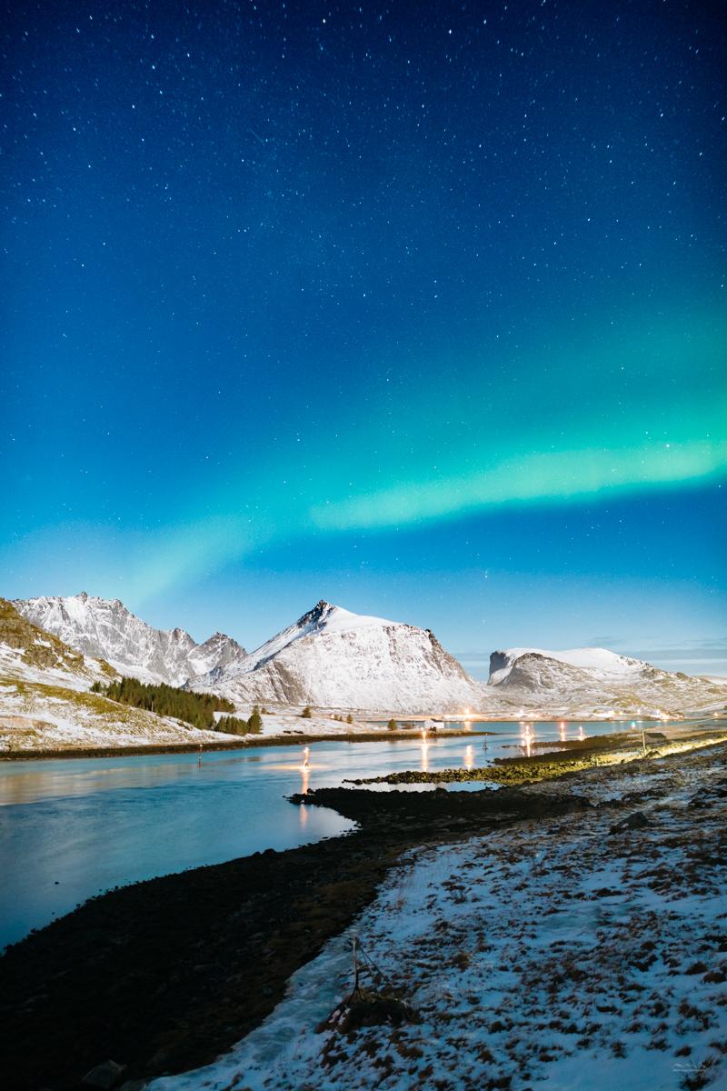 Aurora borealis in Lofoten, Norway