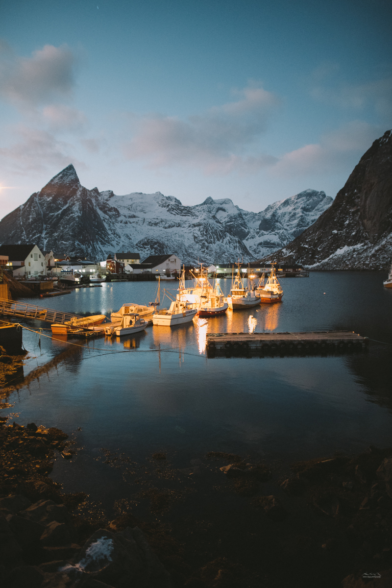The boats in Hamnøy, Lofoten