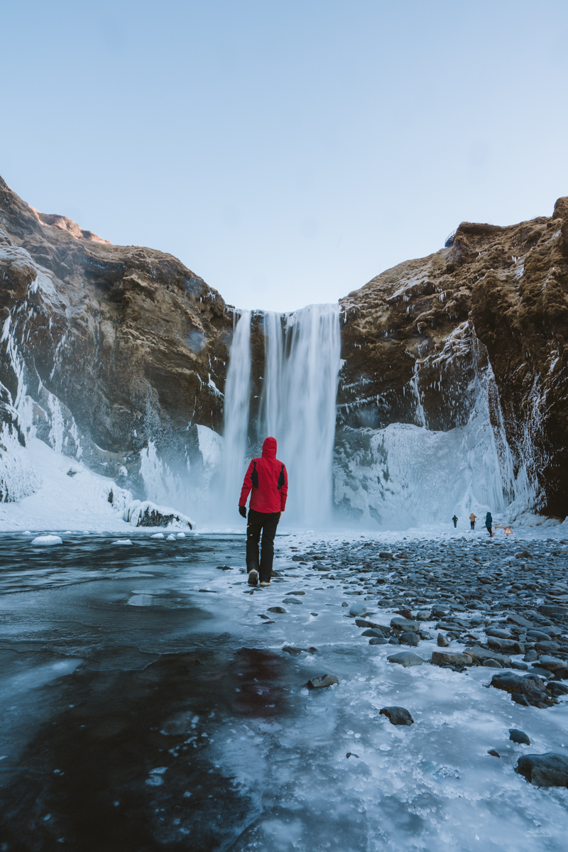 On my way to Skógafoss waterfall