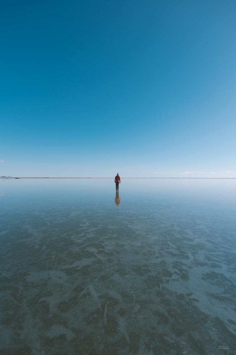 Beautiful frozen lake in Iceland