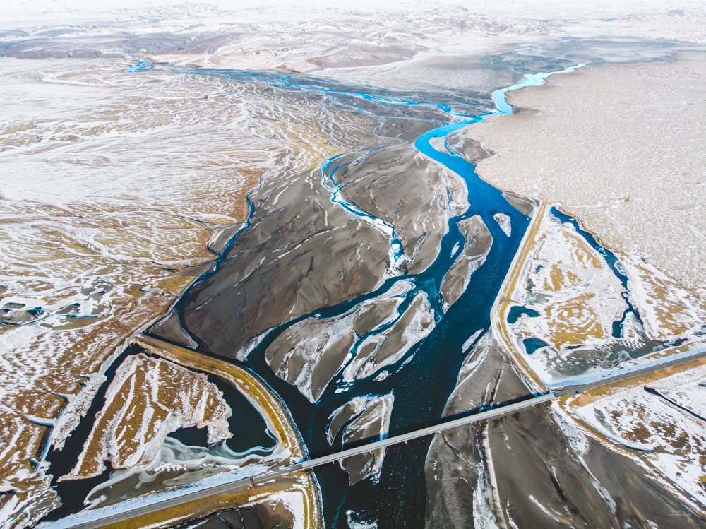 Glacial rivers of Iceland