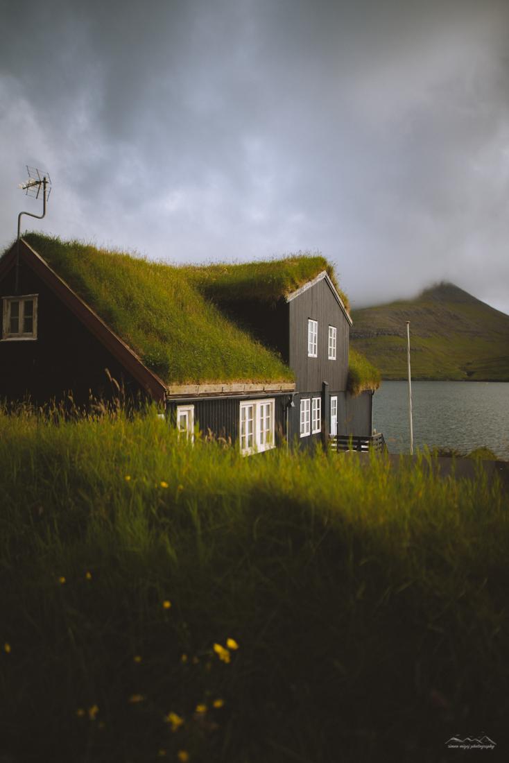 Grass covered house, Faroe Islands
