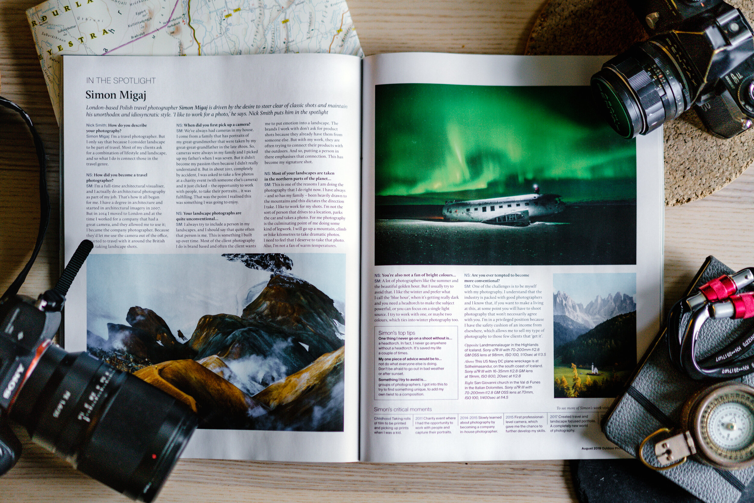 Simon Migaj interview Outdoor Photography Magazine