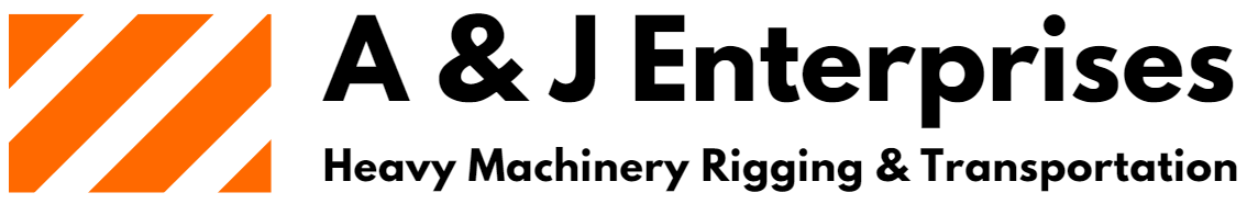 A&J Enterprises Rigging, Tansportation and Heavy Machinery Logo Transparent