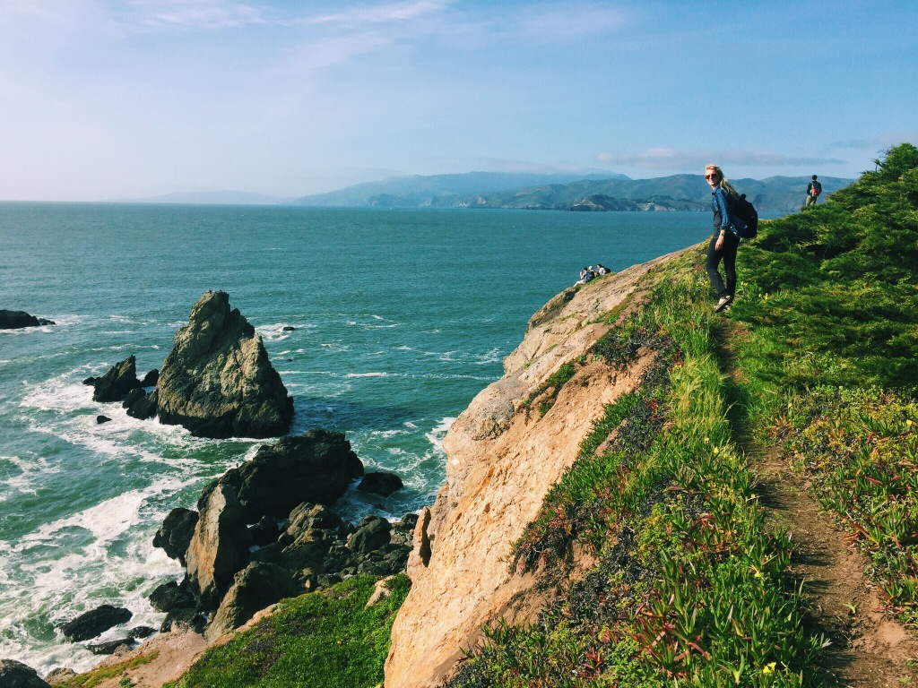 This was one of my favorite adventures in San Francisco, hiking all the way from Sutro Heights grounds to the Golden Gate. I HIGHLY recommend going if you are ever in the area.