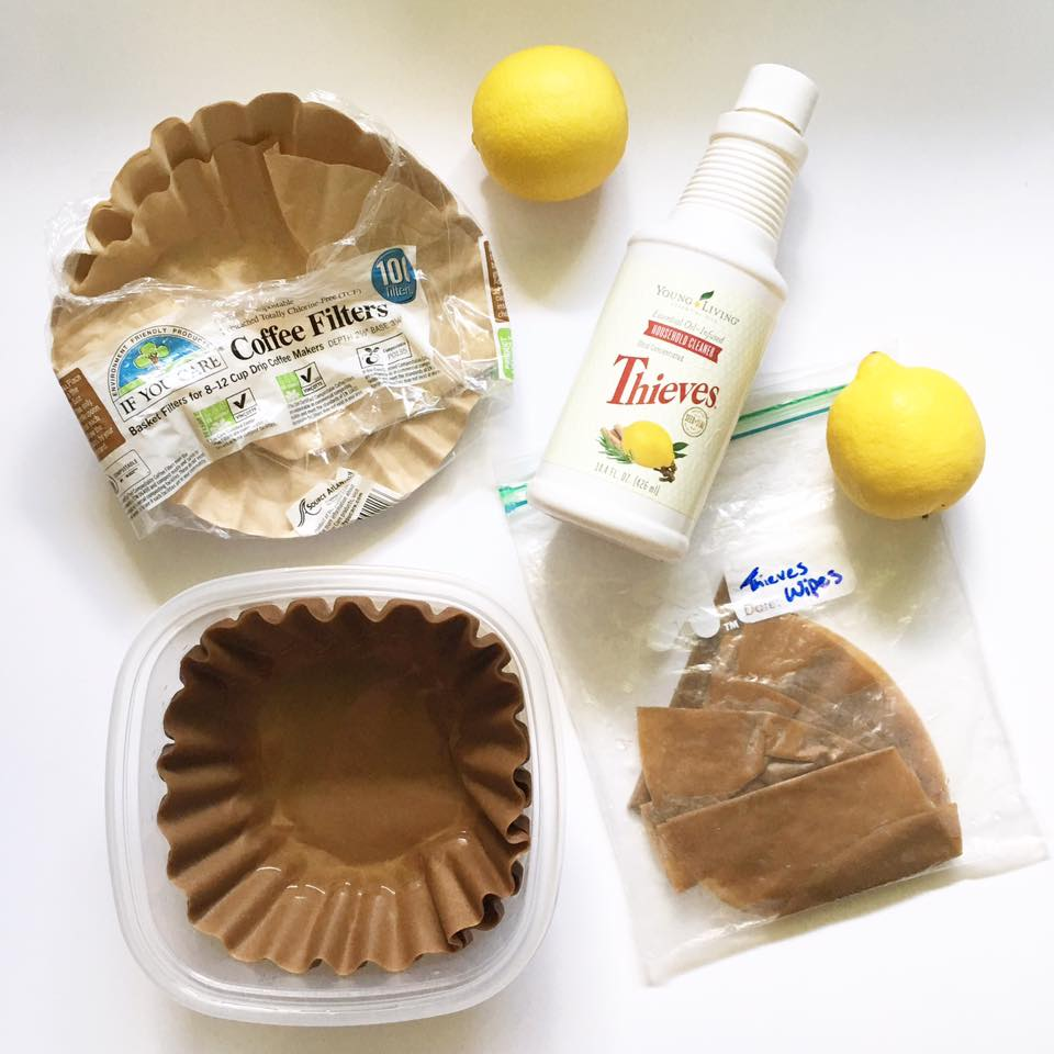My awesome friend, Emily, creating these wipes and taught me this DIY recipe and uses them for everything! She puts them in her diaper bag, below her sink, in her bathroom, everywhere!