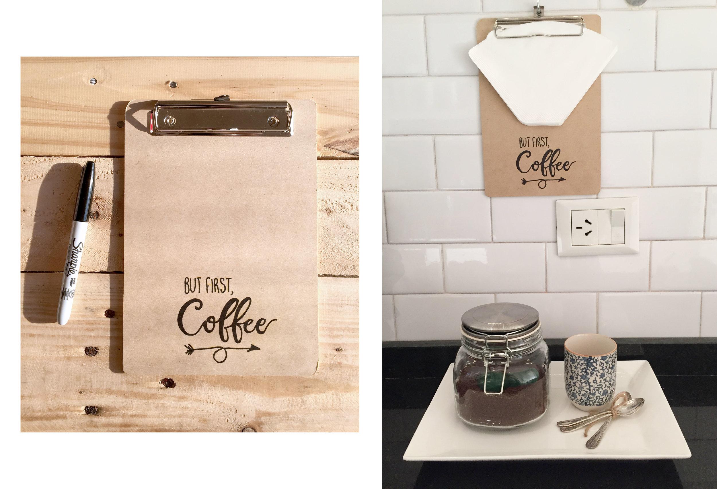 Porta filtros de café - DIY - The Experimess