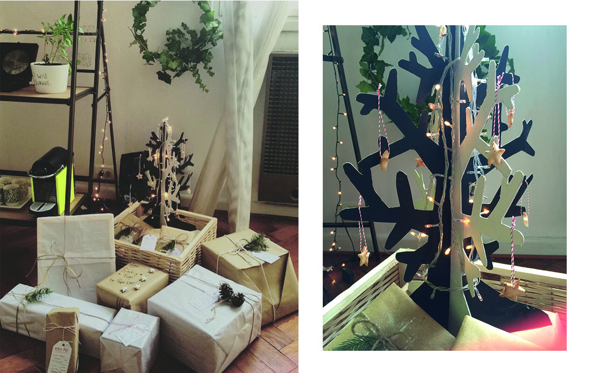 Arbolito navideño de cartón - The Experimess