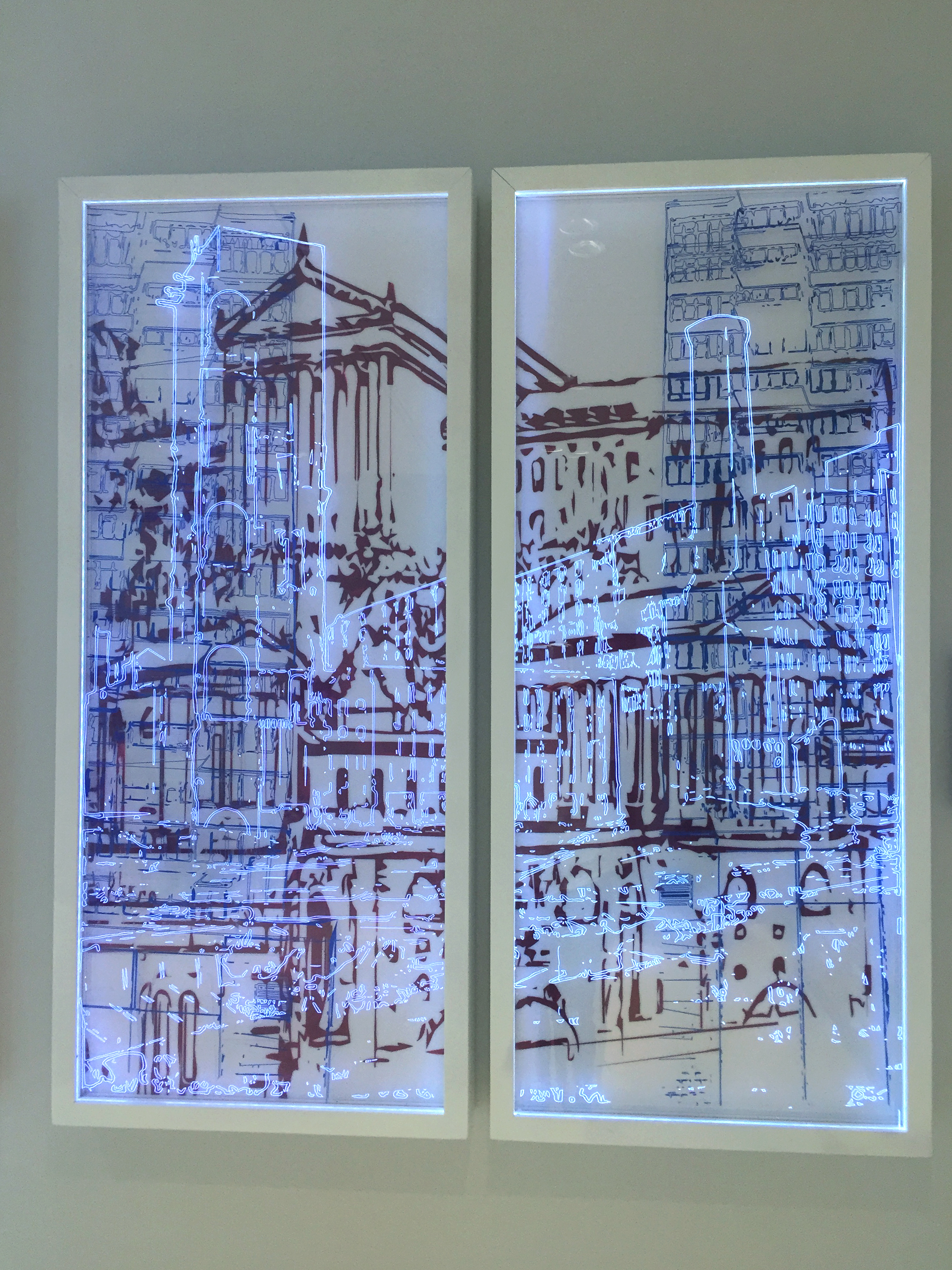 The Benjamin Franklin Parkway Series (Diptych I)