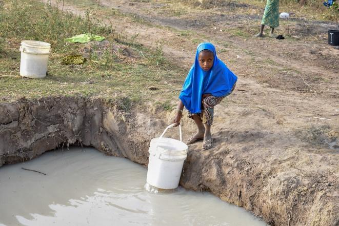 Chester excavated a small water hole, to the delight of the local villagers!