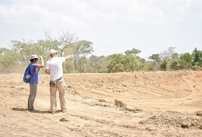 Chester and Jan at Yola Fulako Dam.