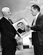 Gould with Ed Sullivan and Buster Keaton April, 1957