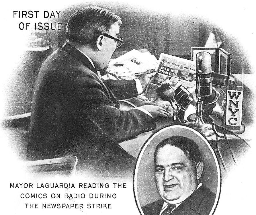 Mayor LaGuardia reads Dick Tracy!