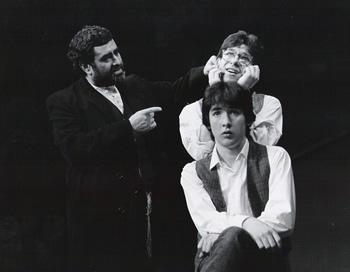 Piven Theater Workshop L-R: Bernie Beck, John Cusack and Adam. Circa 1983