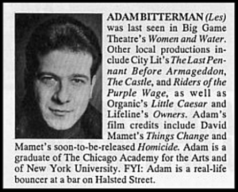 PLAYBILL Bio from BOUNCERS