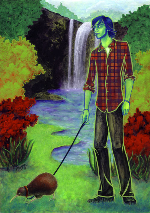 """""""Stu Walking a Kiwi"""" - 2008"""