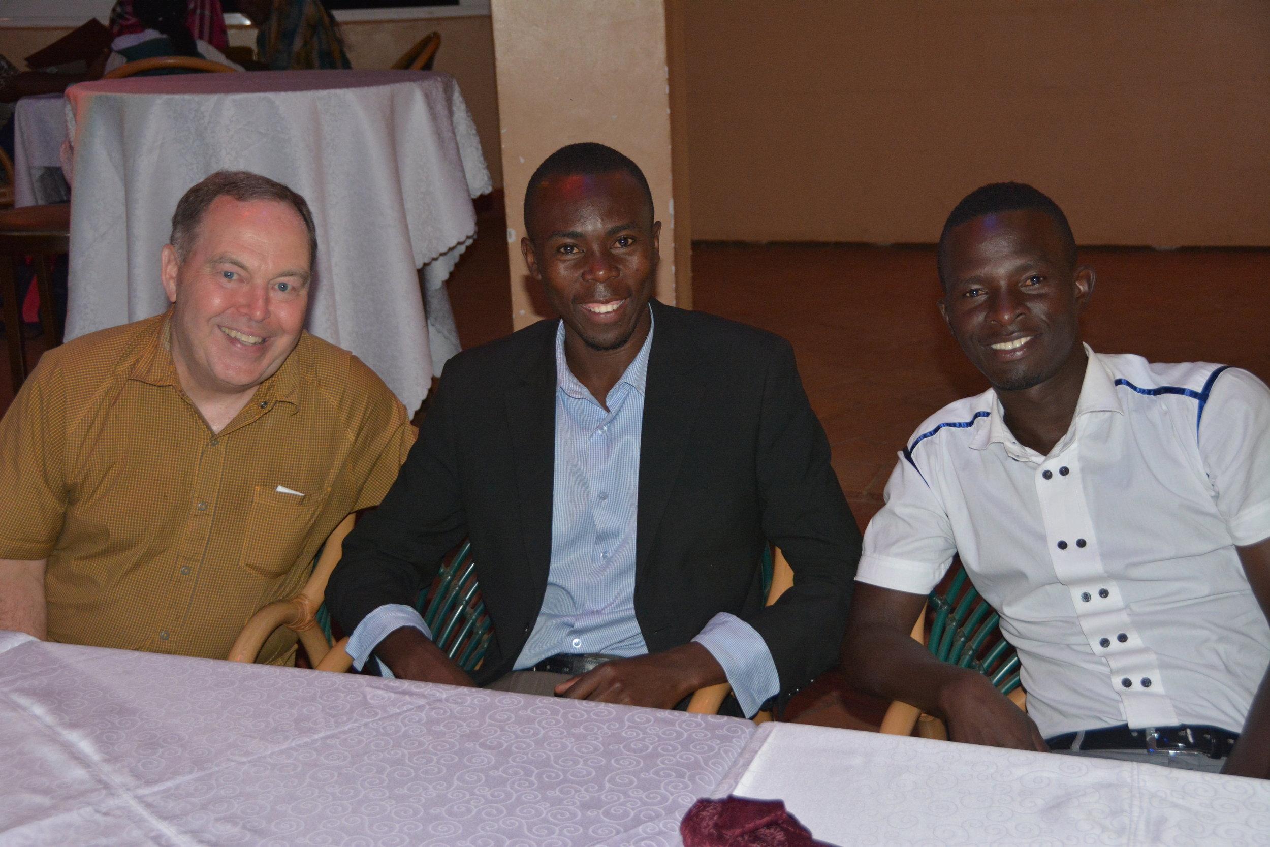 Randy at dinner with 2 CROSO graduates