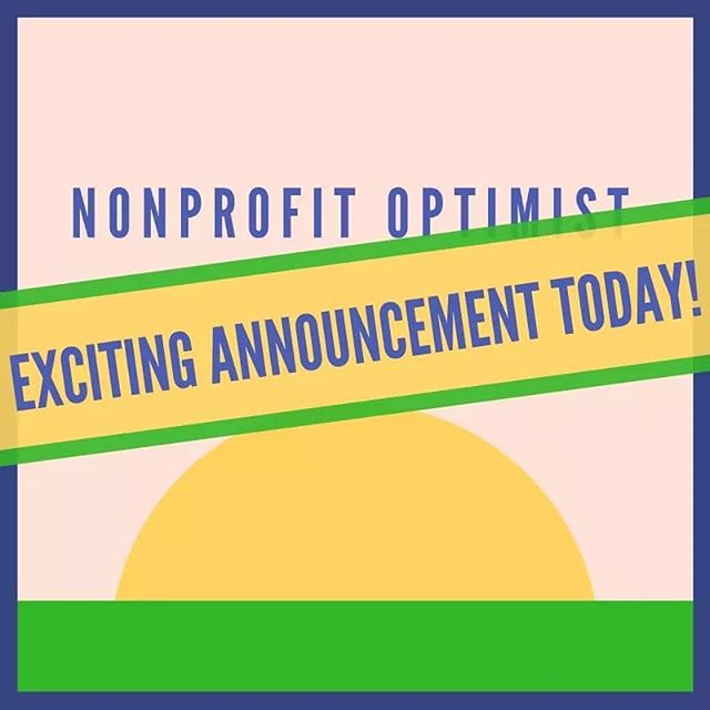 Finally a new episode of the Nonprofit Optimist is released... it's a quick episode but listen in to hear a big announcement! :) ↖️Link in bio↖️
