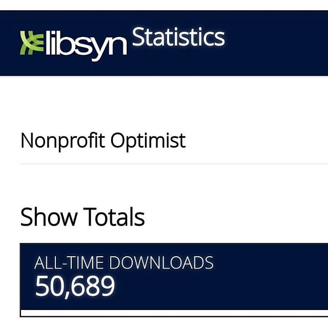 Hi everyone! Just wanted to touch base to let everyone know that another episode is on its way for the Nonprofit Optimist (ideally within the next week!), but in the meantime, I thought I'd just share this exciting milestone... The Nonprofit Optimist Podcast has been downloaded over 50,000 times!!! Thanks to everyone who has listened to this podcast, shared it with a friend, or written a review. Excited to get back in the swing of regularly producing these again!  #nonprofitoptimist #npo #nonprofitpodcast #nonprofits #nonprofitorgs #nonprofit #podcast #milestone #50000 #50000downloads #indypodcast
