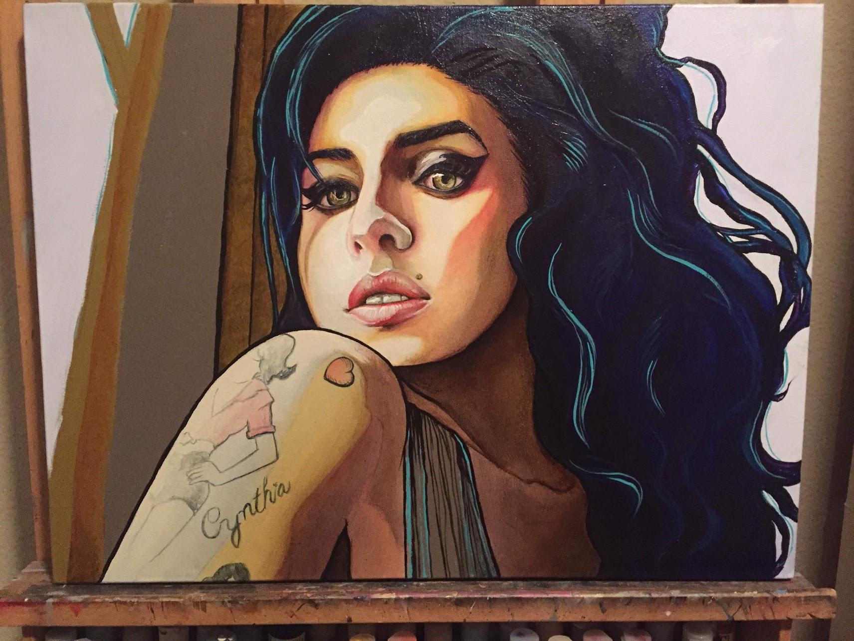 acrylic. in progress.