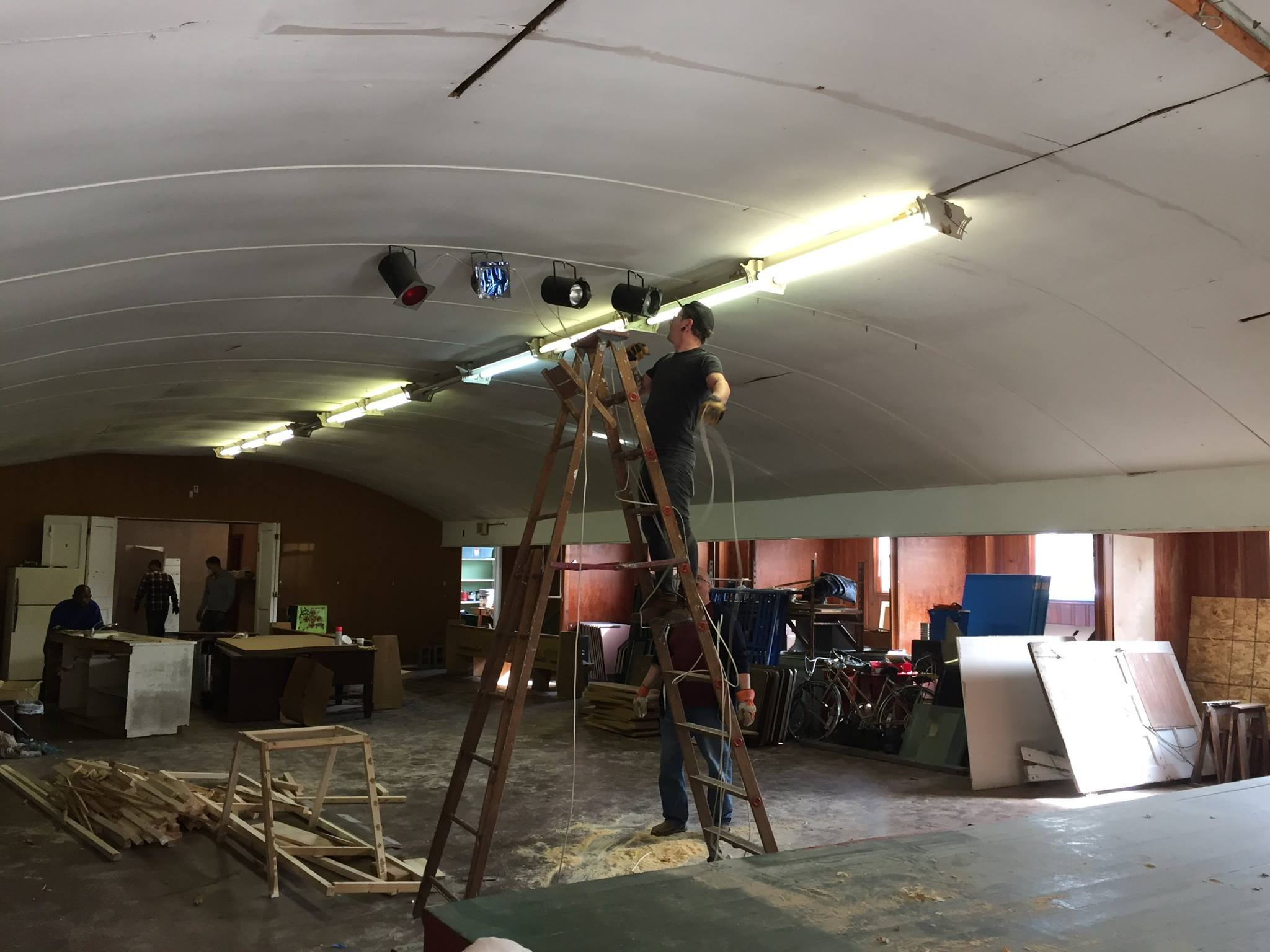 Stage 3: Rehabilitation  - JANUARY - JUNE 2017:We are using the grant money to restore the building back to functional use. Projects include bathroom gutting and renovation, installing AC unit, foundation repair, painting, and deep cleaning.