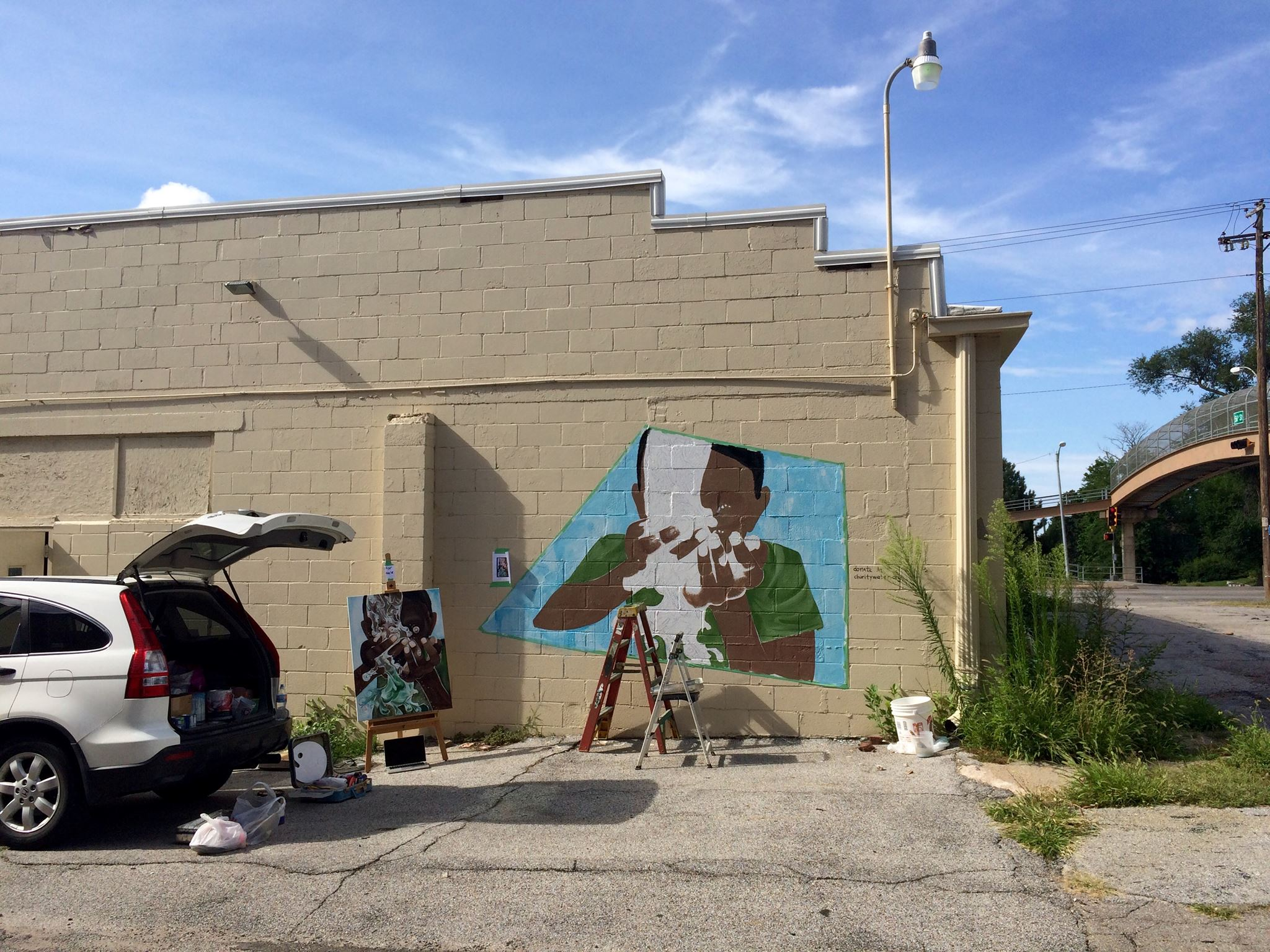 We participated in the BFF Tiny Mural Project. This mural created was created by local artist Sarah Craw (SCraw Art) on the south wall.