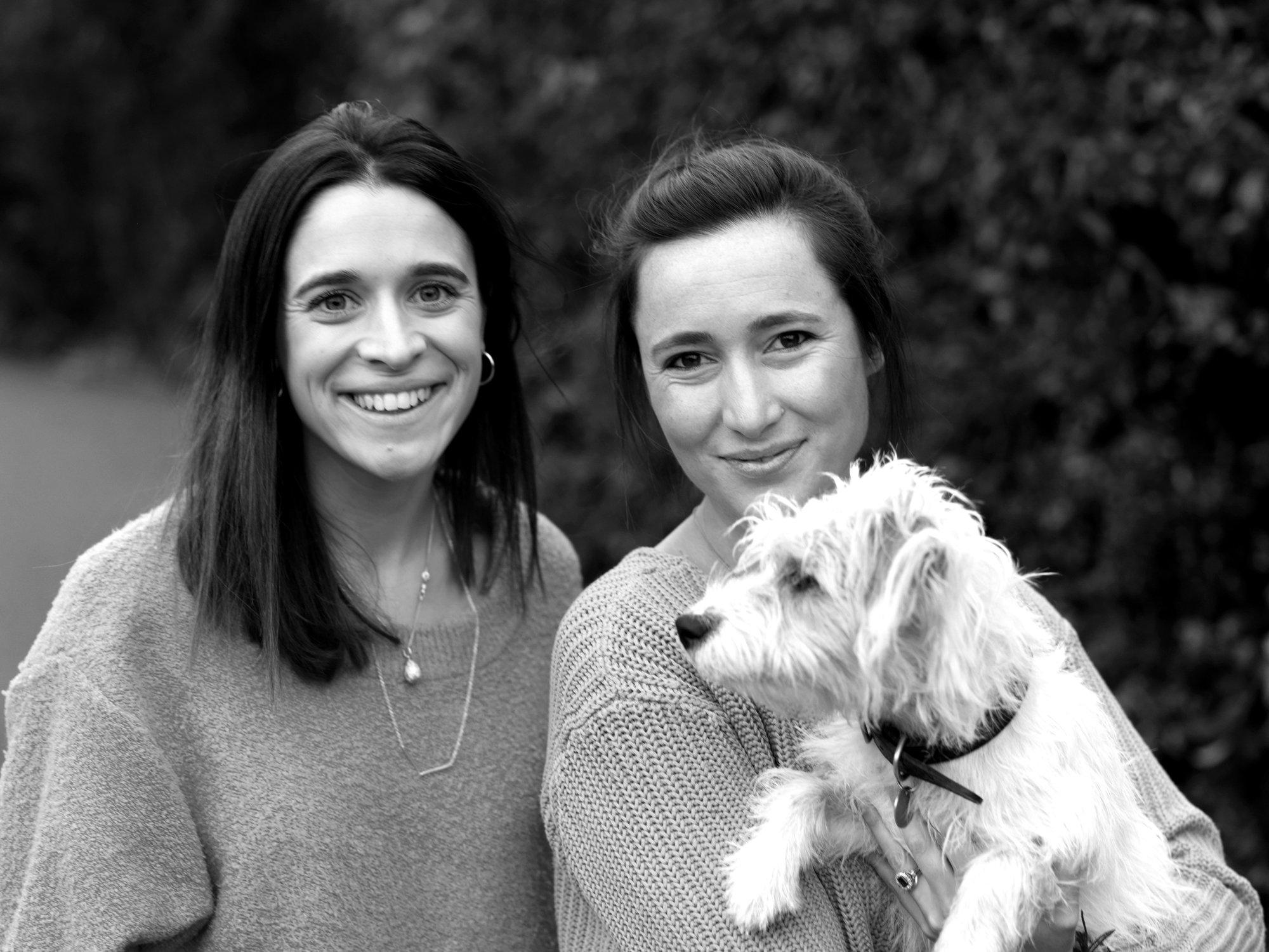 Clara, Rachel and Tonka the dog